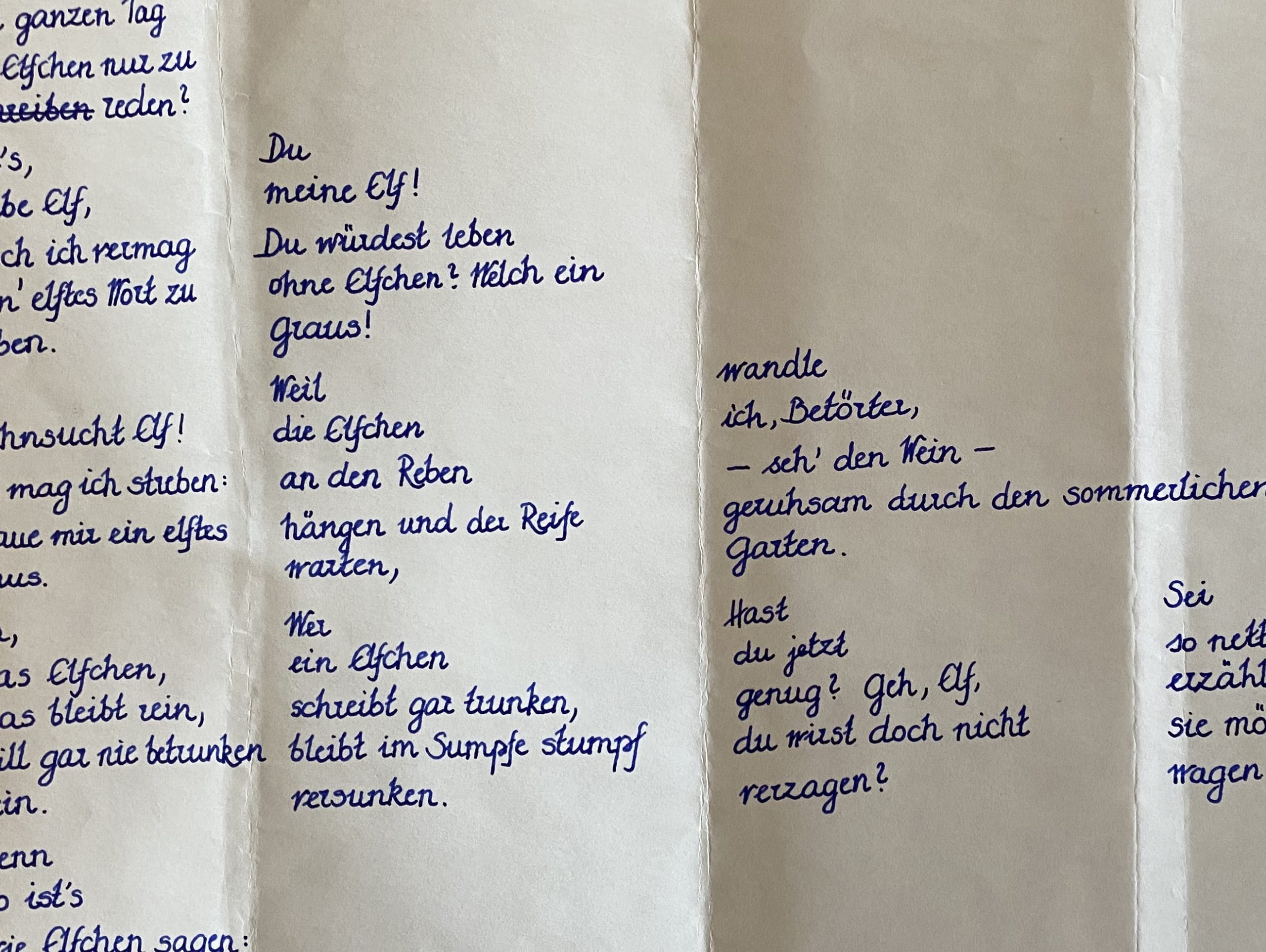 Elfchen gedicht liebe